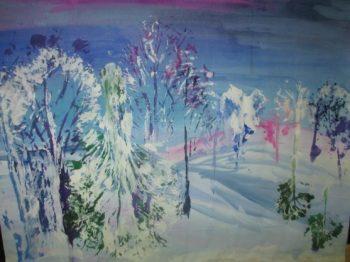 В МДОУ ДС №21 «РАДУГА» прошло открытое мероприятие для педагогов ДОУ на тему: «Зимний пейзаж»