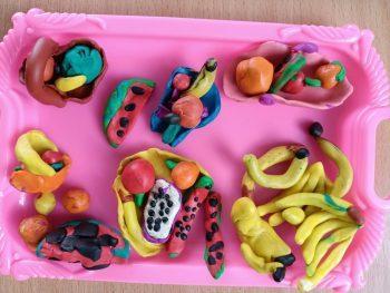 Лепка «Овощи и фрукты». Обучающиеся старшей группы №6.